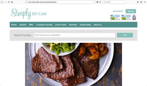 Simply Beef and Lamb Website Design